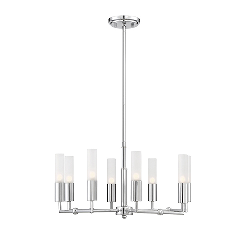 Essex Polished Chrome Eight-Light Chandelier