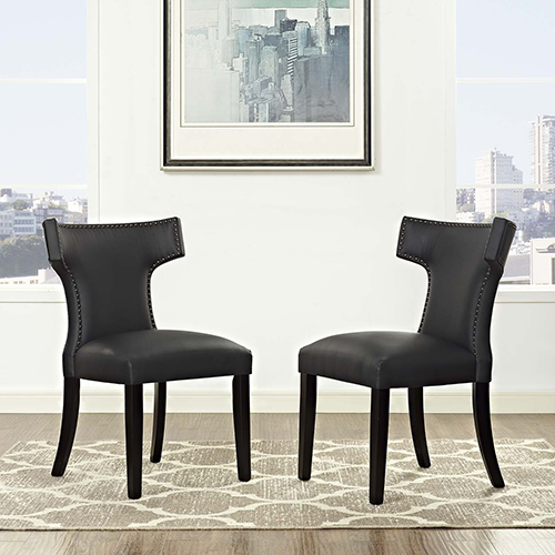 Cooper Black Dining Chair, Set of Two