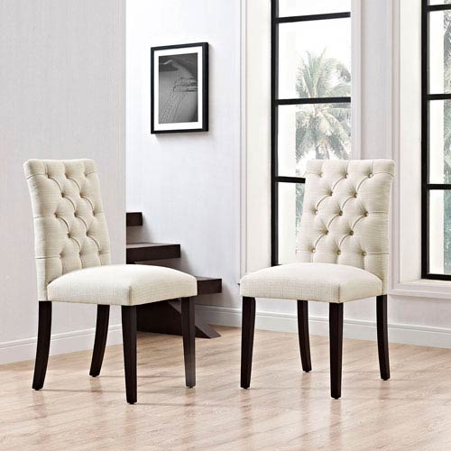 Whittier Beige Dining Chair, Set of Two