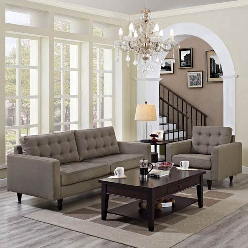 Uptown Granite Nylon and Polyester Two Piece Sofa Set