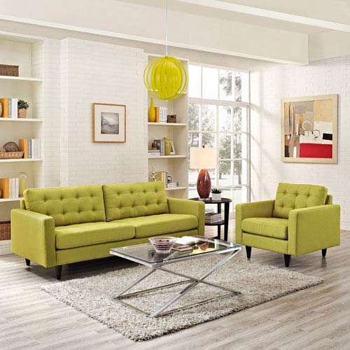 Uptown Wheat Grass Nylon and Polyester Two Piece Sofa Set