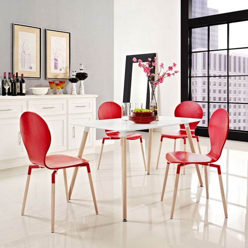 Uptown White 47-Inch Dining Table