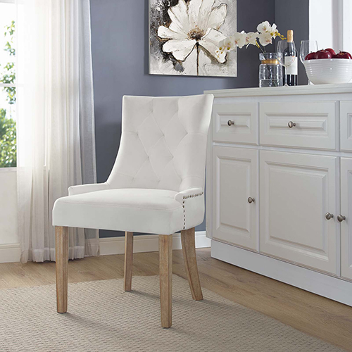 Vivian Ivory Wood Dining Chair