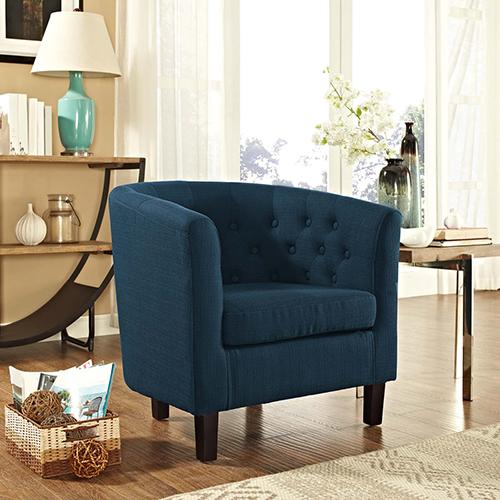 Cooper Blue Wood Arm Chair