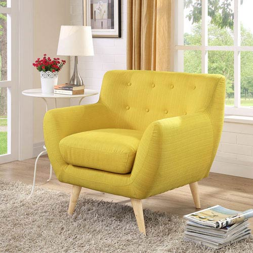 Nicollet Sunny Natural Color Rubber Wood Arm Chair