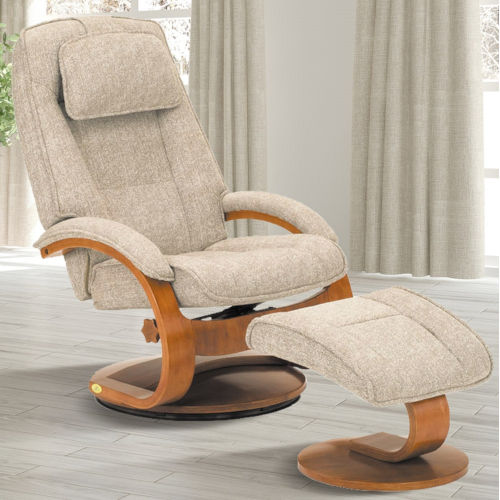 Selby Linen Fabric Manual Recliner