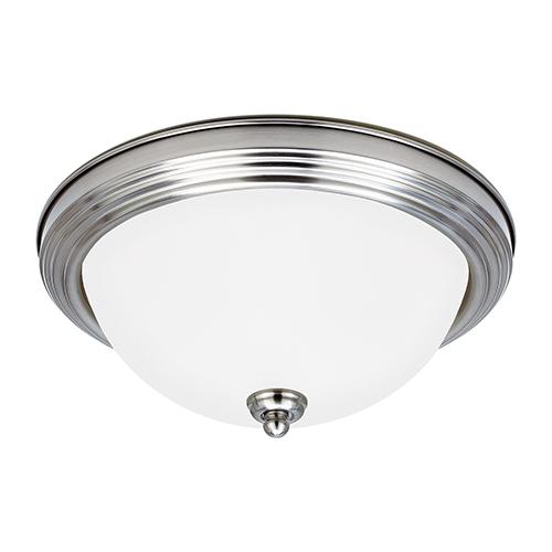 James Brushed Nickel 13-Inch LED Flush Mount