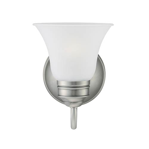 George Antique Brushed Nickel One-Light Wall Mounted Bath Fixture