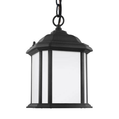 Preston Black One-Light Outdoor Pendant