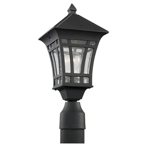 Uptown Black One-Light Outdoor Post Lantern
