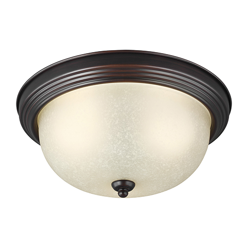 James Sienna 11-Inch LED Flush Mount with Amber Scavo Glass