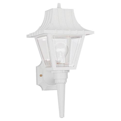 Claire White 8-Inch Wide One-Light Outdoor Wall Lantern
