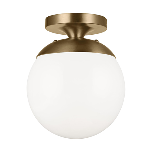 Loring Satin Bronze One-Light Energy Star Semi Flush Mount