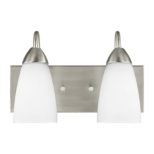 Nora Brushed Nickel Energy Star 14-Inch Two-Light Bath Vanity