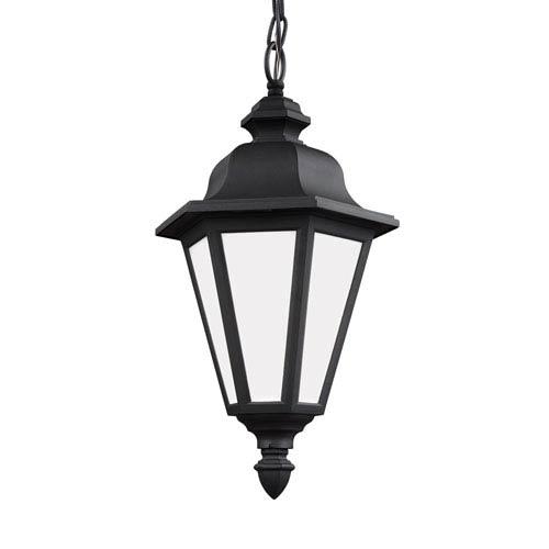 Wellington Black 10-Inch One-Light Outdoor Pendant