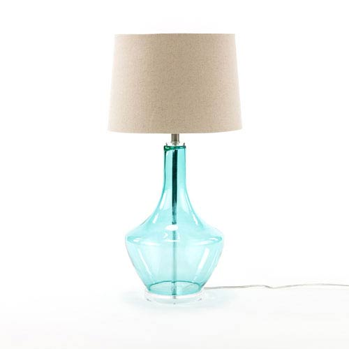 Selby Blue Glass Table Lamp
