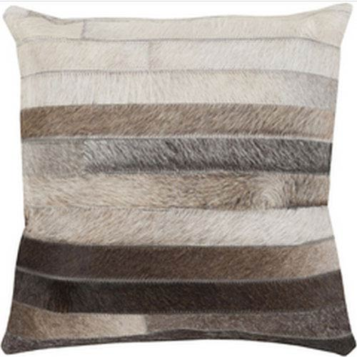 Fulton Brown and Ivory Stripe Pillow