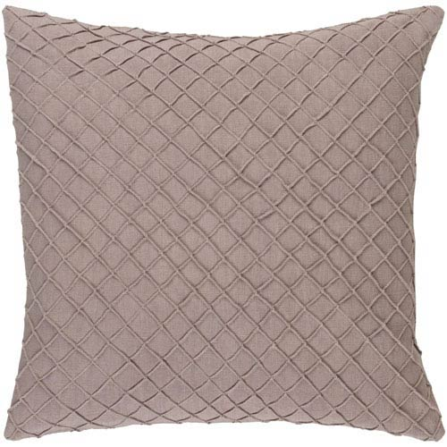 Nicollet Tan 18-Inch Pillow with Poly Fill