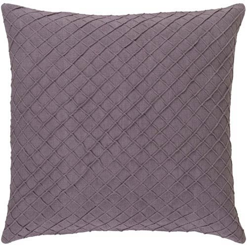 Nicollet Mauve 18-Inch Pillow with Poly Fill