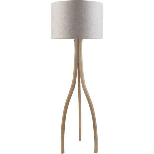 Nicollet Natural Wood Floor Lamp