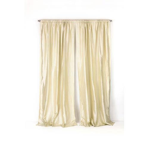 251 First Loring Pearl White 96 x 50-Inch Thai Silk Curtain Single Panel