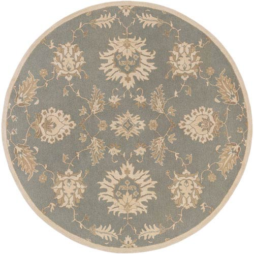Whittier Slate and Ivory Round: 8 Ft. Rug