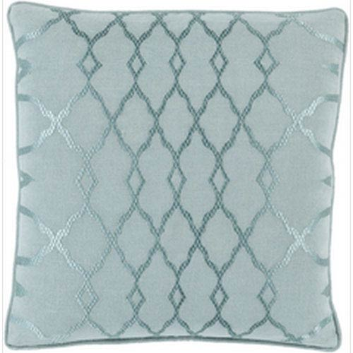 Whittier Seafoam and Teal 18-Inch Pillow