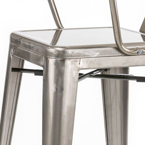 River Station Natural Industrial Kitchen Cart 251 First: 251 First River Station Galvanized Metal Cafe Barstool