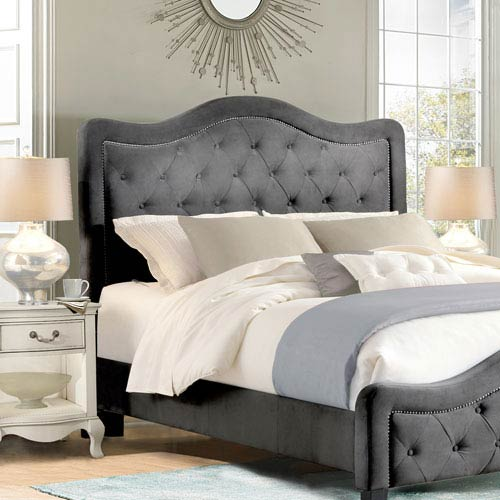 Selby Pewter King Headboard Only