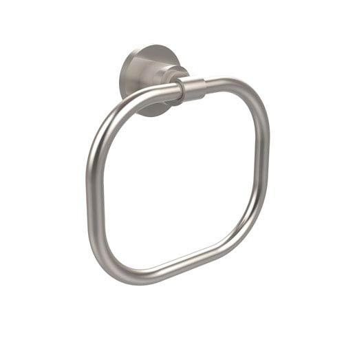 Afton Satin Square Satin Nickel Towel Ring