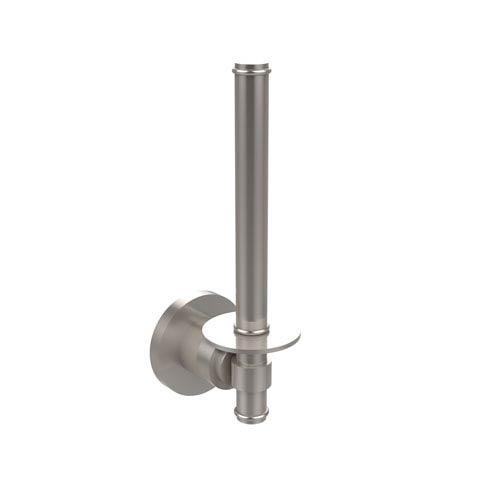 Afton Satin Square Satin Nickel Upright Toilet Paper Holder