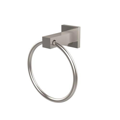 Uptown Satin Nickel Towel Ring