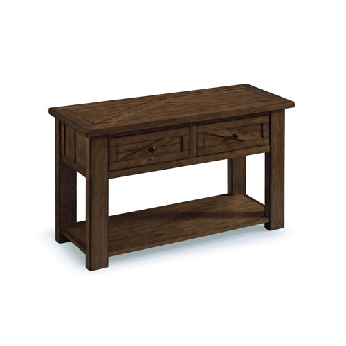 Afton Rustic Pine Rectangular Sofa Table