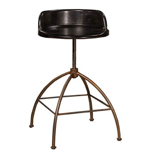 River Station Black Adjustable Bar Stool