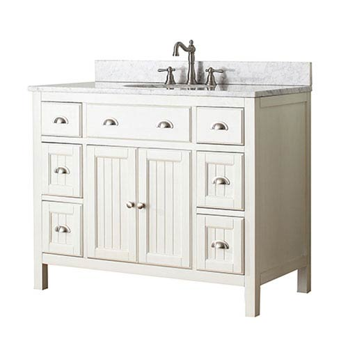 Afton French White 42-Inch Vanity Only
