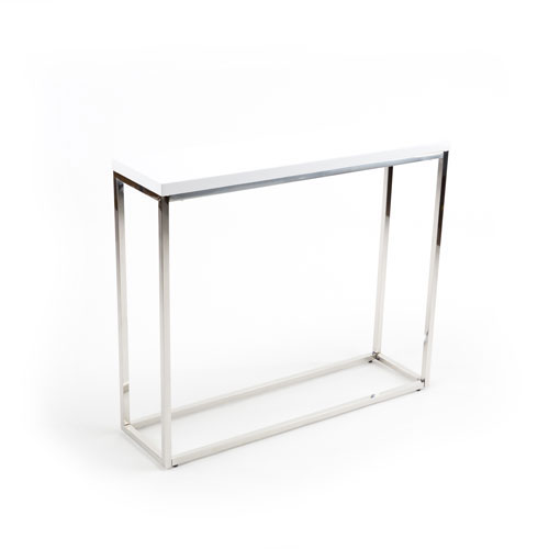 251 First Loring White Lacquer Console Table