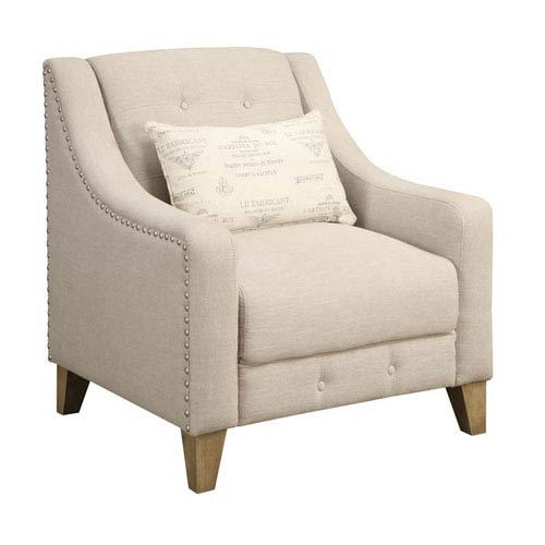 251 First Selby Beige Chair with 1 Kidney Pillow