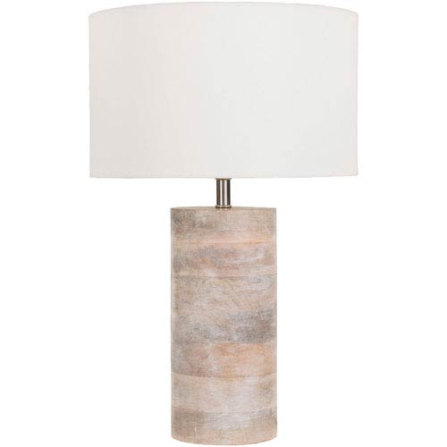 Afton Natural Mango Wood Table Lamp