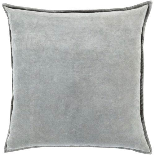 Loring Velvet Seafoam 18-Inch Pillow with Poly Fill