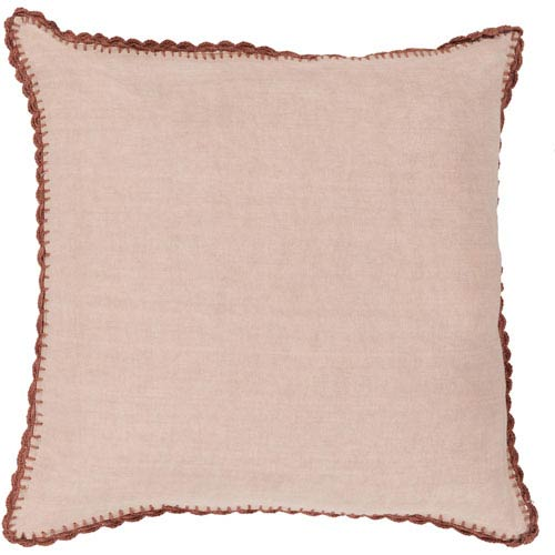 251 First Quinn Pale Pink and Rose 18-Inch Pillow with Poly Fill