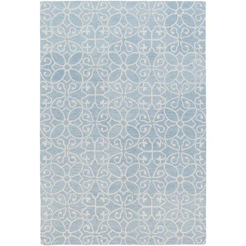 251 First Grace Light Denim and Khaki Rectangular: 2 Ft. x 3 Ft. Rug