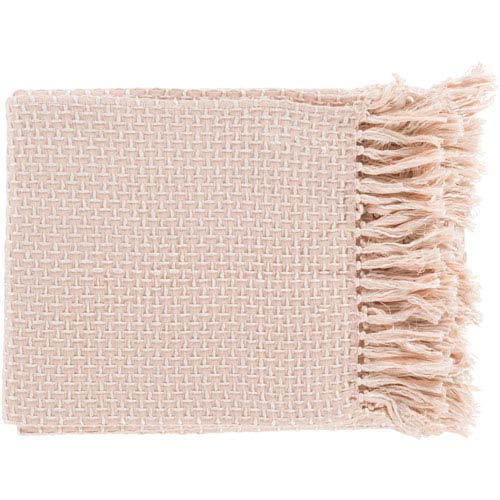 Quinn Pink and White Throw
