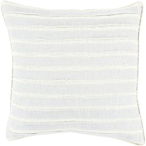251 First Quinn Sky Navy and Ivory 18-Inch Pillow with Poly Fill
