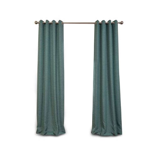 251 First Uptown Jade 108 x 50-Inch Grommet Blackout Curtain Single Panel