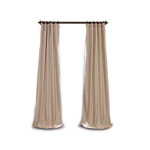 Whittier Beige 84 x 50-Inch Blackout Faux Silk Taffeta Curtain Single Panel