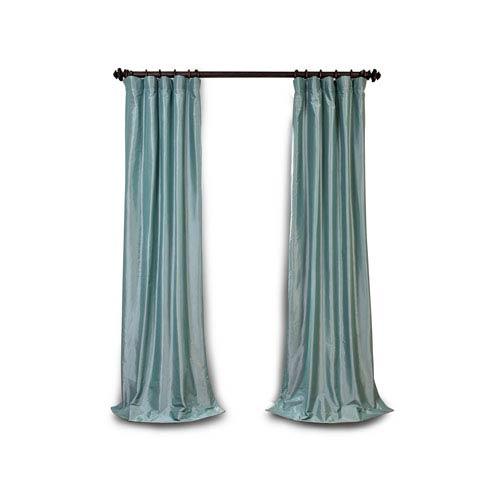 Whittier Light Blue 96 x 50-Inch Blackout Faux Silk Taffeta Curtain Single Panel