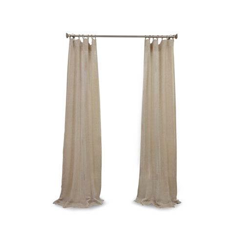 Afton Natural 120 x 50-Inch Linen Sheer Curtain
