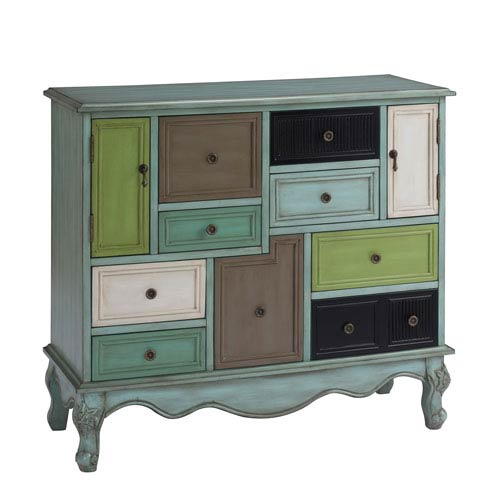 Hayden Multicolor Nine Drawer Two Door Cabinet
