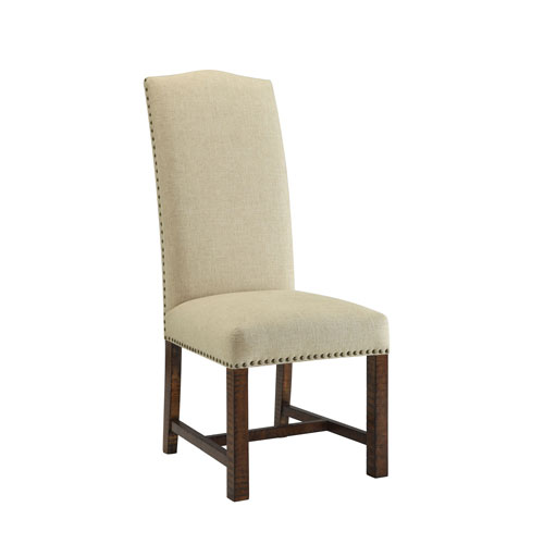 Selby Cream and Brown Accent Chairs, Set of Two
