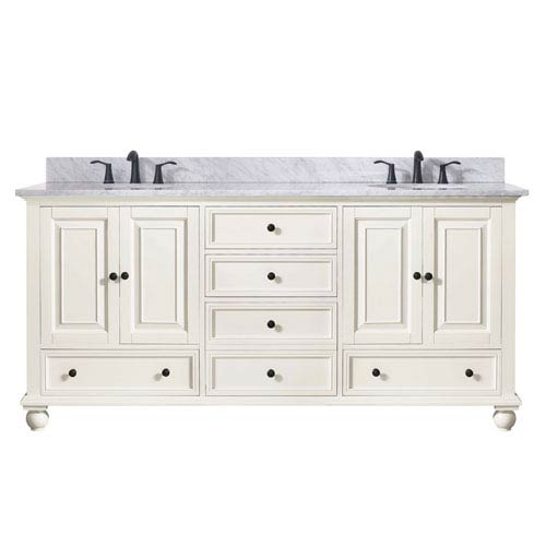 251 First Grace French White 73-Inch Vanity Combo